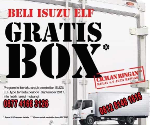 Beli isuzu elf gratis karoseri Box